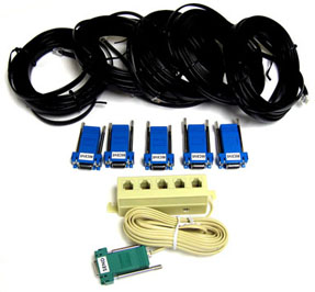 CIC Cable Kit (Multi-Line Block) for 5 Receiving Computers